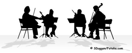 silhouette of quartet