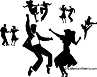 dance party in silhouette
